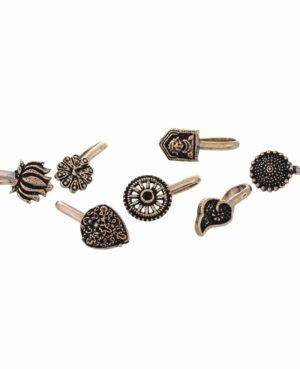 Oxidized german Silver nose pin