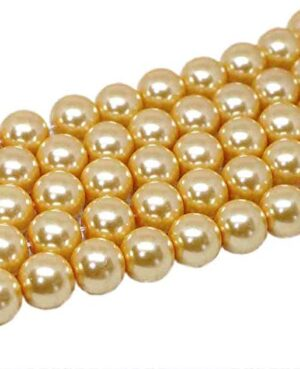 8mm golden pearls for jewelery making