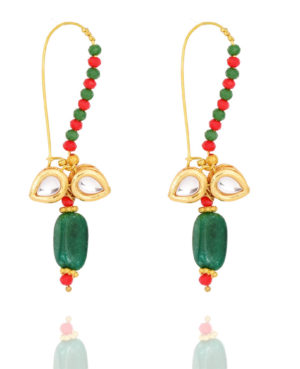 Indo Western Hoops Earrings, Butterfly earrings