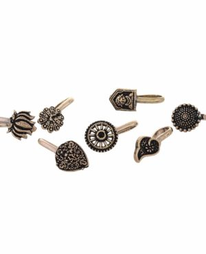 Oxidized german Silver nose pin
