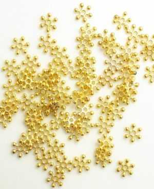 golden spacer for jewelry making